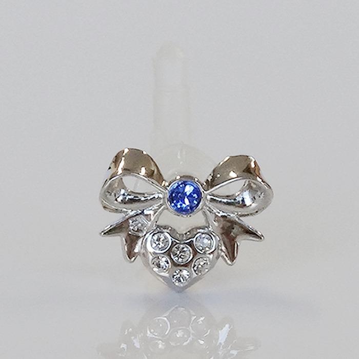 JACK PIERCE 5 RIBBON Silver × Sapphire_0