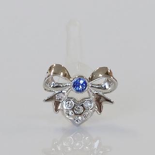 JACK PIERCE 5 RIBBON Silver × Sapphire