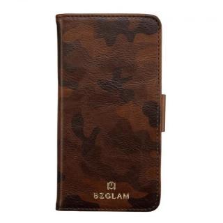 BZGLAM カモフラージュ手帳型ケース ブラウン iPhone 6s/6