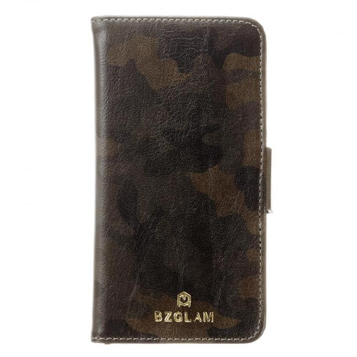 【iPhone6sケース】BZGLAM カモフラージュ手帳型ケース グリーン iPhone 6s/6_0