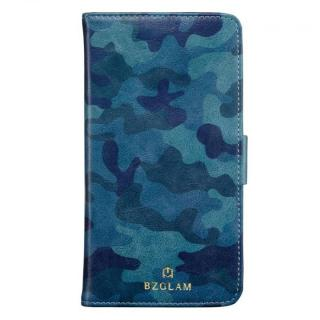 BZGLAM カモフラージュ手帳型ケース ブルー iPhone 6s Plus/6 Plus