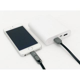 [1m]A+  2 in 1 ケーブル Lightning & Micro USB ホワイト_1