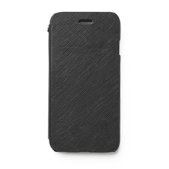 【iPhone6ケース】傷からの保護性が高い本革 手帳型ケース Minimal Diary ブラック iPhone 6ケース_0