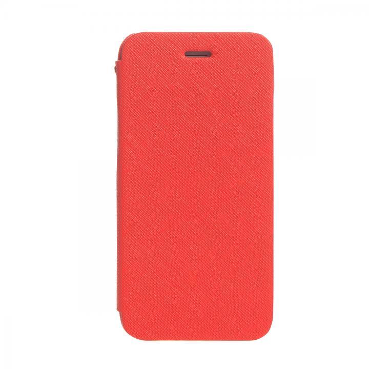 傷からの保護性が高い本革 手帳型ケース Minimal Diary レッド iPhone 6ケース