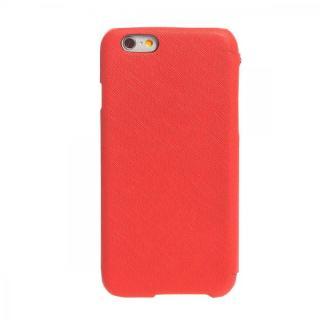 【iPhone6ケース】傷からの保護性が高い本革 手帳型ケース Minimal Diary レッド iPhone 6ケース_1