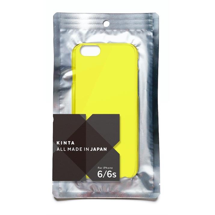 【iPhone6sケース】エラストマー クリアケース KINTA イエロー iPhone 6s/6_0
