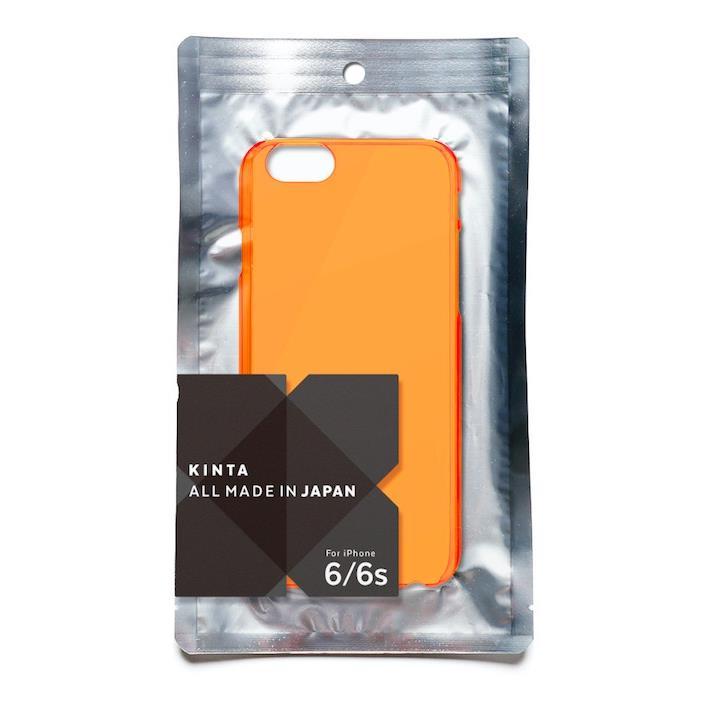 iPhone6s ケース エラストマー クリアケース KINTA オレンジ iPhone 6s/6_0
