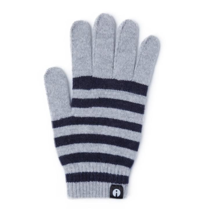 どの指でもスマホが操作できる iTouch Gloves ホワイト/ネイビー(ストライプ)Lサイズ_0
