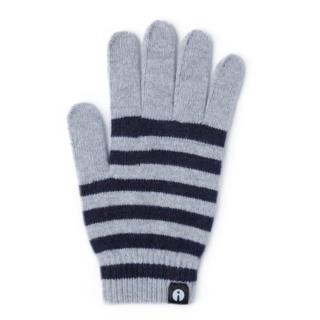 どの指でもスマホが操作できる iTouch Gloves ホワイト/ネイビー(ストライプ)Lサイズ