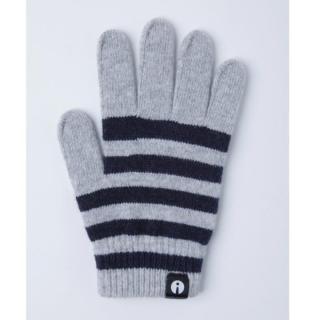 どの指でもスマホが操作できる iTouch Gloves ホワイト/ネイビー(ストライプ)Sサイズ