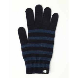 どの指でもスマホが操作できる iTouch Gloves ネイビー/ブルー(ストライプ)Lサイズ