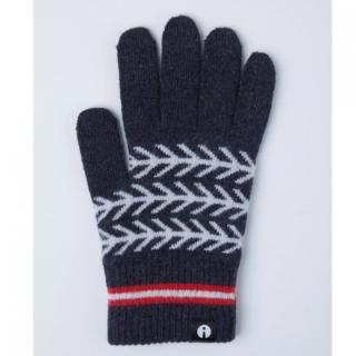 どの指でもスマホが操作できる iTouch Gloves ネイビー(ヘリンボーン)Lサイズ