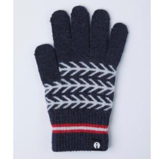 どの指でもスマホが操作できる iTouch Gloves ネイビー(ヘリンボーン)Sサイズ