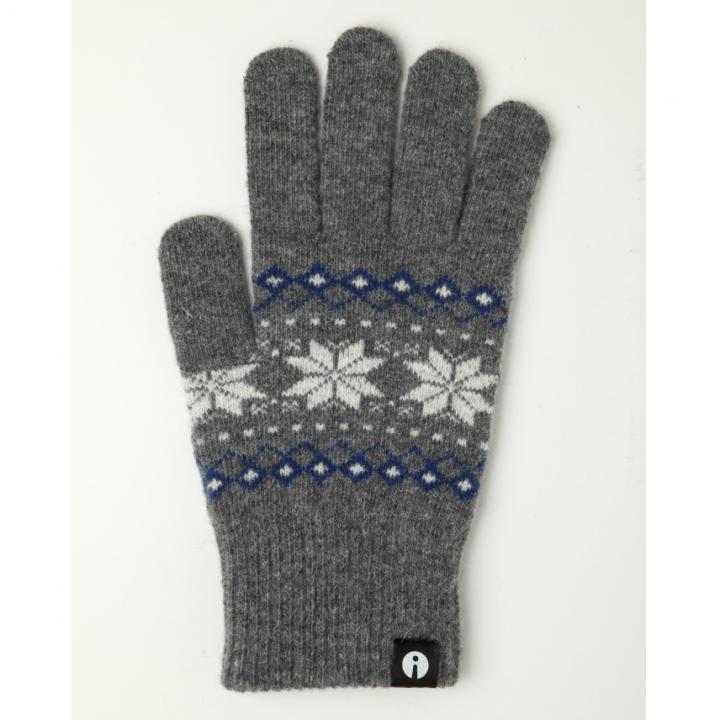 どの指でもスマホが操作できる iTouch Gloves グレー(ジャガード)Lサイズ_0
