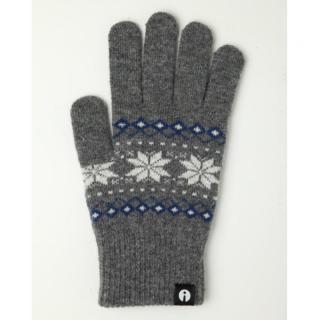 どの指でもスマホが操作できる iTouch Gloves グレー(ジャガード)Lサイズ