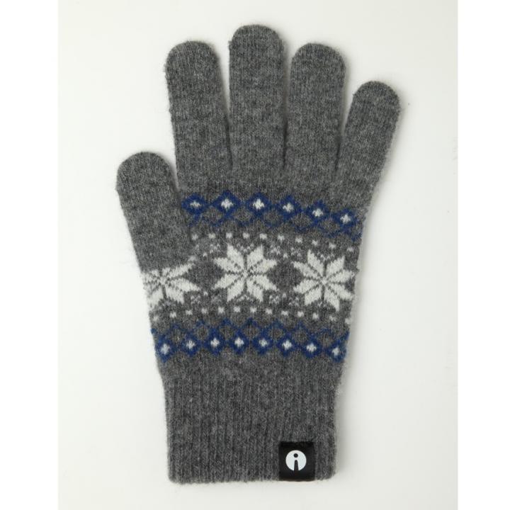 どの指でもスマホが操作できる iTouch Gloves グレー(ジャガード)Sサイズ_0