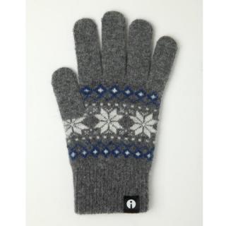 どの指でもスマホが操作できる iTouch Gloves グレー(ジャガード)Sサイズ