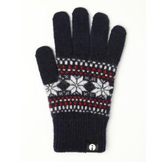 どの指でもスマホが操作できる iTouch Gloves ネイビー(ジャガード)Sサイズ