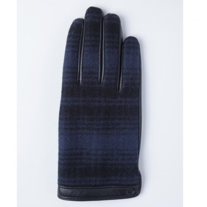 どの指でもスマホが操作できる iTouch Gloves ウールリッチ使用(ブルー)Lサイズ_0