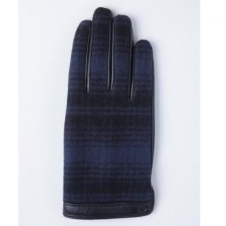 どの指でもスマホが操作できる iTouch Gloves ウールリッチ使用(ブルー)Lサイズ