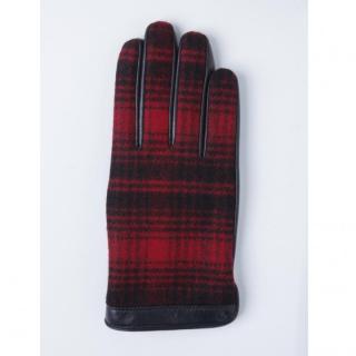 どの指でもスマホが操作できる iTouch Gloves ウールリッチ使用(レッド)Lサイズ