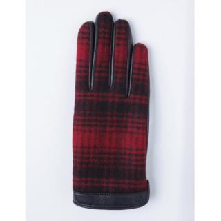 どの指でもスマホが操作できる iTouch Gloves ウールリッチ使用(レッド)Sサイズ