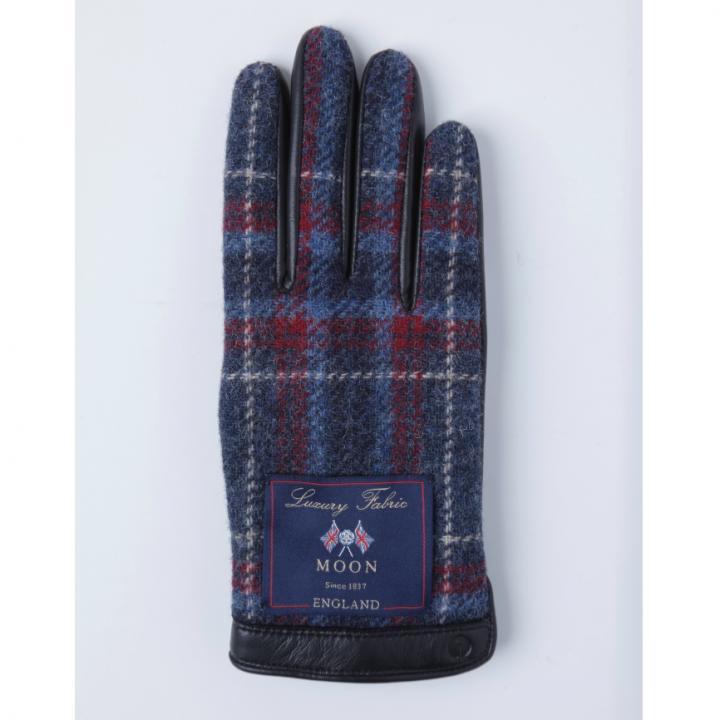 どの指でもスマホが操作できる iTouch Gloves イギリス製ムーン使用(ブラック/ブルー)Sサイズ_0