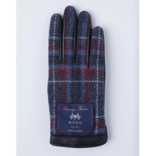 どの指でもスマホが操作できる iTouch Gloves イギリス製ムーン使用(ブラック/ブルー)Sサイズ