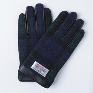 5本指全てタッチパネル対応スマホ手袋 iTouch Gloves 手のひら側革製ネイビー