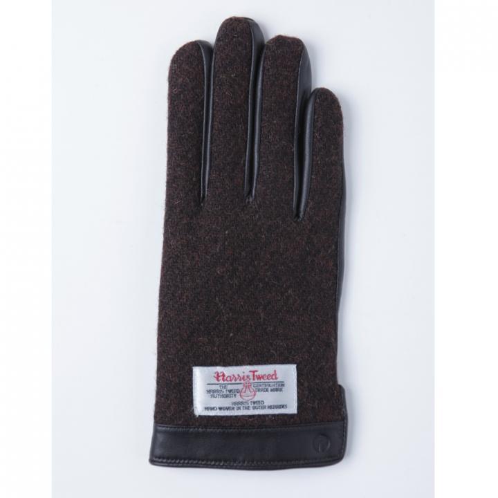 どの指でもスマホが操作できる iTouch Gloves 手のひら側革製ブラウンSサイズ_0