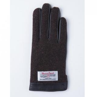 どの指でもスマホが操作できる iTouch Gloves 手のひら側革製ブラウンSサイズ