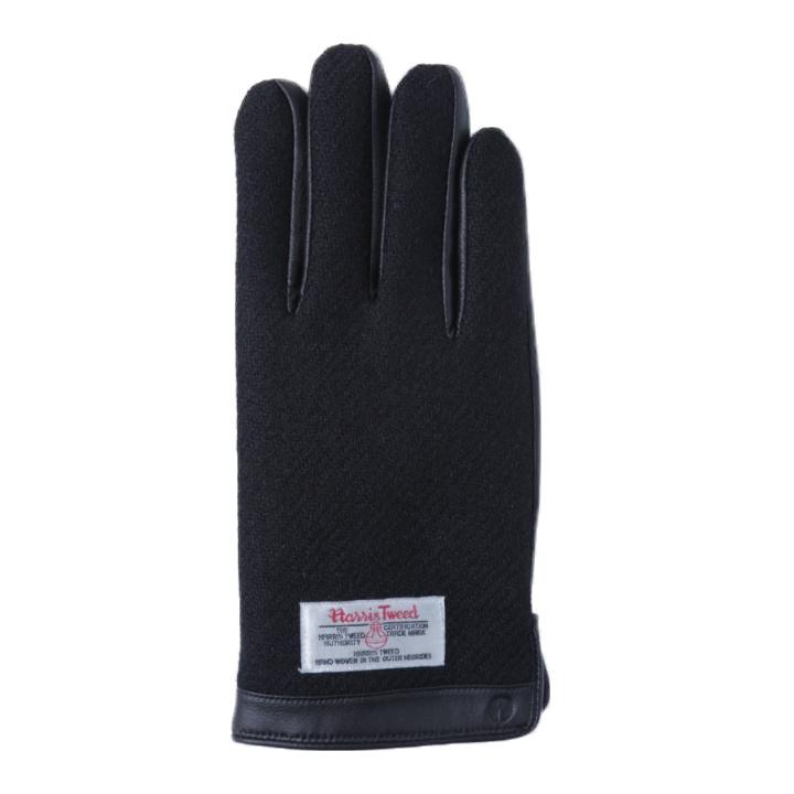 スマホ対応手袋 iTouch Gloves 手のひら側革製ブラックLサイズ_0