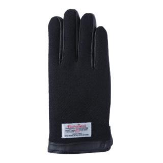 スマホ対応手袋 iTouch Gloves 手のひら側革製ブラックLサイズ