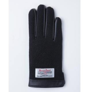 スマホ対応手袋 iTouch Gloves 手のひら側革製ブラックSサイズ