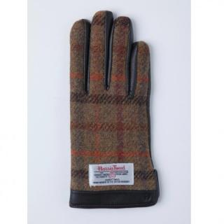 どの指でもスマホが操作できる iTouch Gloves 手のひら側革製ベージュ(チェック)Sサイズ