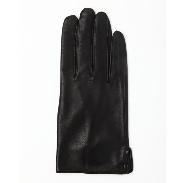 どの指でもスマホが操作できる iTouch Gloves 表面総革製ブラックSサイズ_0