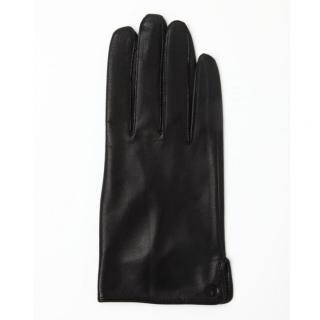 どの指でもスマホが操作できる iTouch Gloves 表面総革製ブラックSサイズ