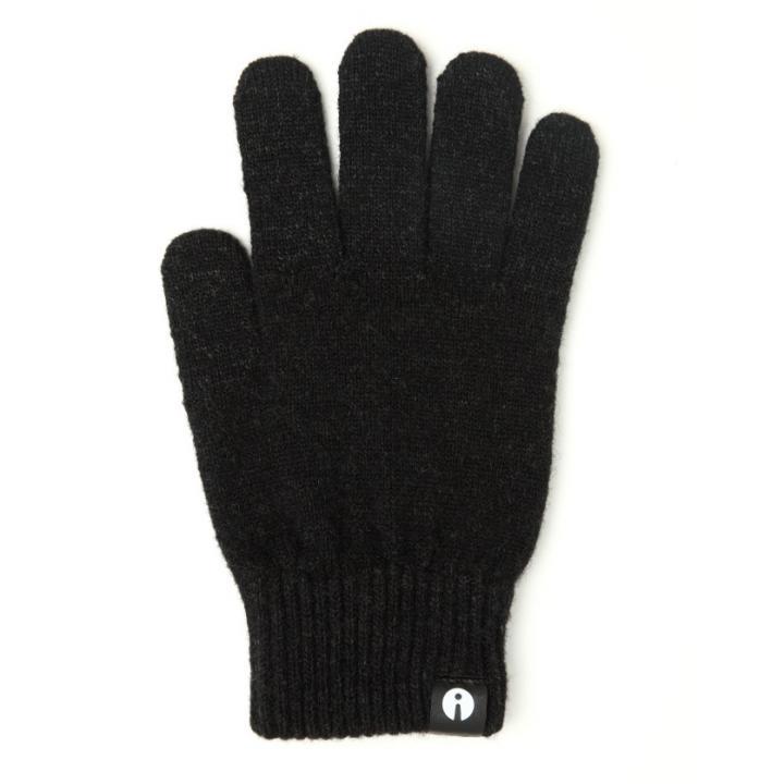 どの指でもスマホが操作できる iTouch Gloves スリップ防止黒Sサイズ_0