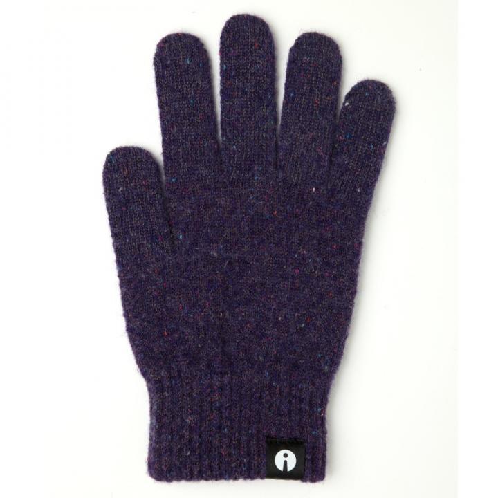 どの指でもスマホが操作できる iTouch Gloves パープルSサイズ_0