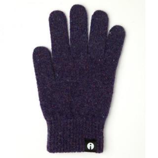 どの指でもスマホが操作できる iTouch Gloves パープルSサイズ
