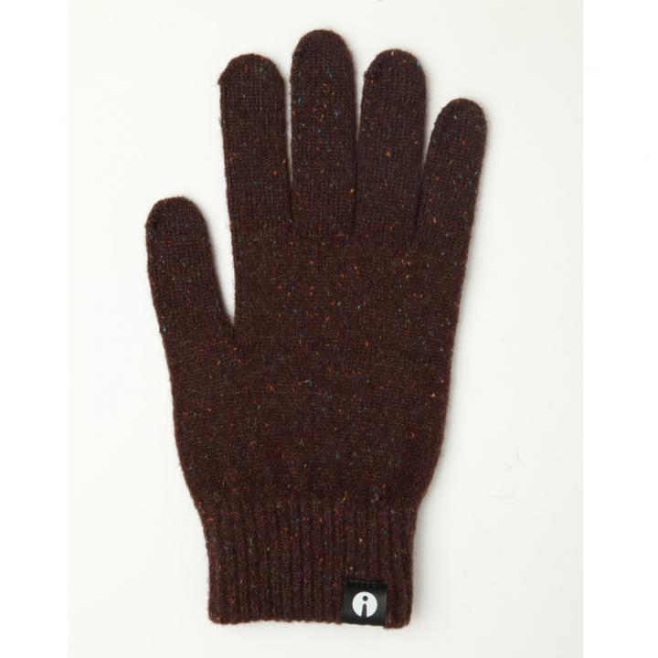 どの指でもスマホが操作できる iTouch Gloves ブラウンLサイズ_0