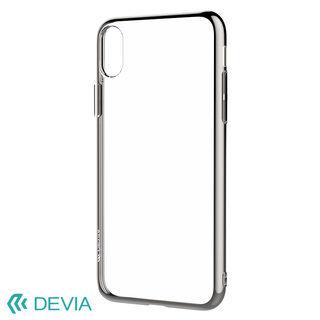 【iPhone XS Maxケース】フレームメッキの差し色が映える 超薄型TPUケース/Glitter soft case(TPU) 2018 シルバー iPhone XS Max【9月中旬】