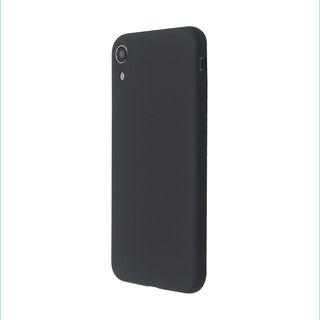 【iPhone XRケース】汚れに強い さらっとした肌触りのリキッドシリコンケース/EXTRA SLIM SILICONE ブラック iPhone XR