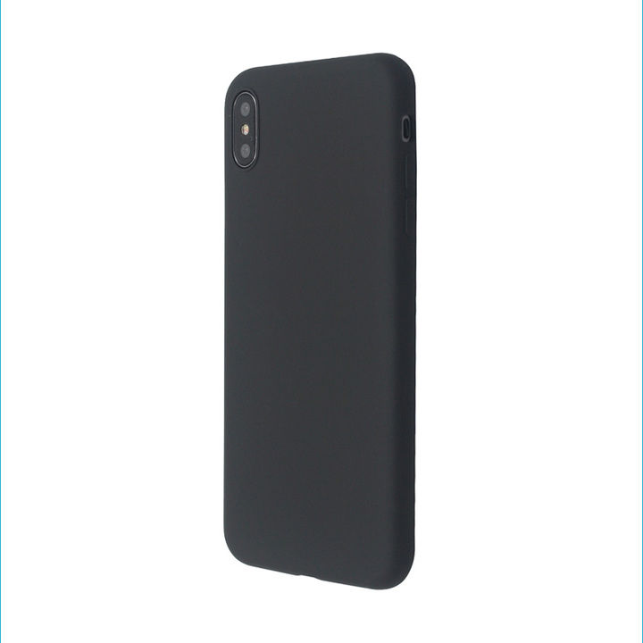 iPhone XS/X ケース 汚れに強い さらっとした肌触りのリキッドシリコンケース/EXTRA SLIM SILICONE ブラック iPhone XS/X_0