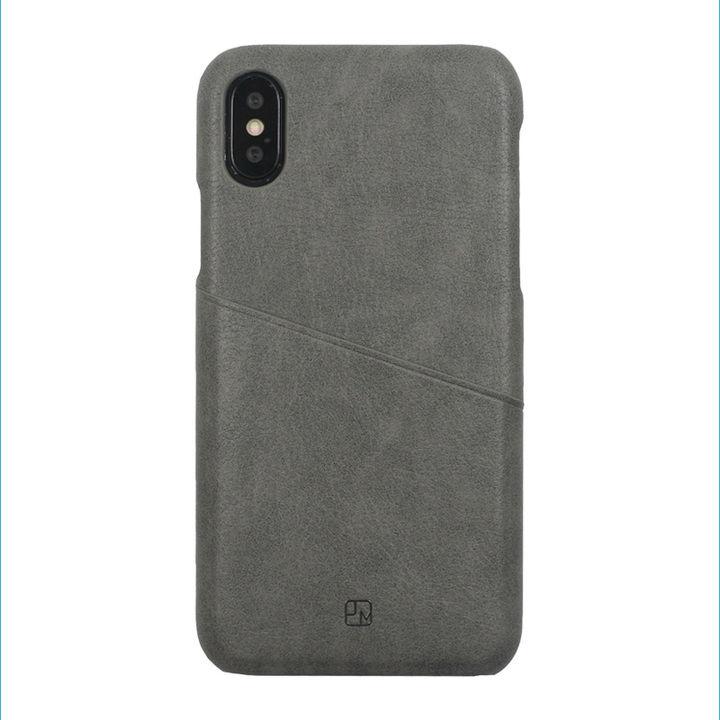 iPhone XS/X ケース アンティーク感ある合皮と味わい深いカラーがお洒落 ハードケース/ANTIQUE POCKET 2018 グレイ iPhone XS/X_0