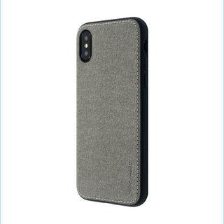 iPhone XS/X ケース 上質なファブリックとステッチがきいたハイブリッド背面ケース/Y EMPIRE 2018 グレイ iPhone XS/X
