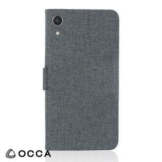 【iPhone XRケース】リネン素材を使用した、ナチュラルで繊細な手帳型ケース/LINEN 2018 ブラック iPhone XR_1