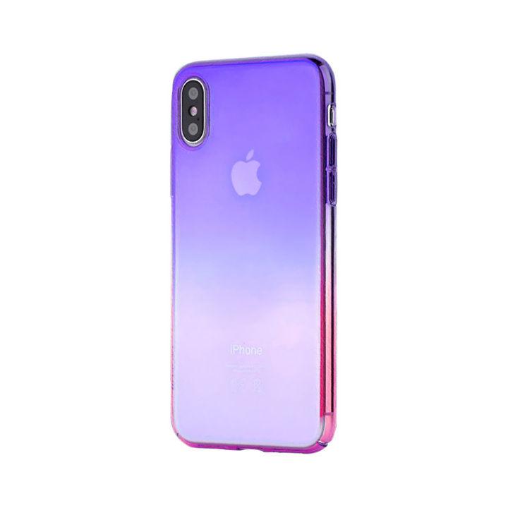 iPhone XS/X ケース オーロラのようにきらめく 繊細で美しいハードケース/Aurora Series Case 2018 紫/ローズレッド iPhone XS/X_0