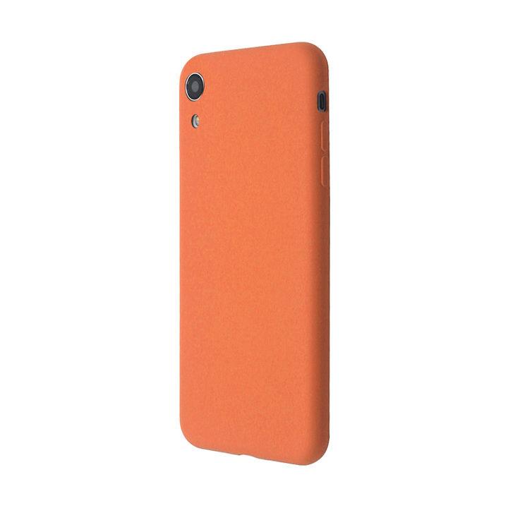 iPhone XR ケース 汚れに強い さらっとした肌触りのリキッドシリコンケース/EXTRA SLIM SILICONE ピーチ iPhone XR_0