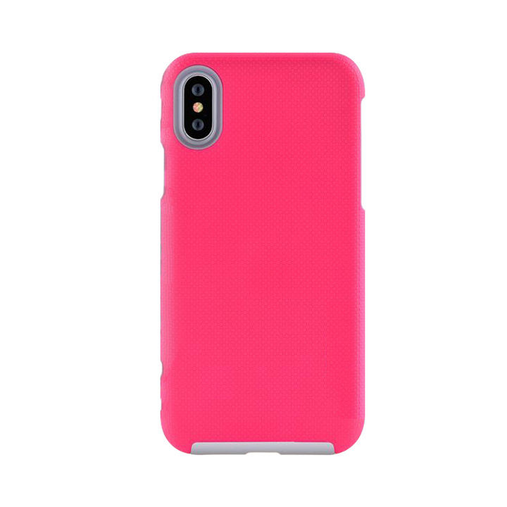 iPhone XS Max ケース 耐衝撃 丈夫でかわいい2ピース構造 ハードケース/King Kong case 2018 ローズレッド iPhone XS Max_0